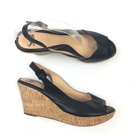 e99b9028f9 Sofft Platform Cork Wedge Peep Toe sling back. M_5b3247d8819e90e5799f5191.  Other Shoes you may like. Söfft ankle strap Mary Jane heels patent leather